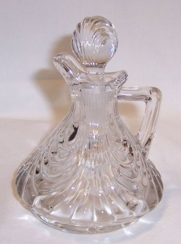 Cambridge Crystal CAPRICE Oil or Vinegar CRUET with STOPPER