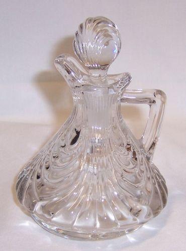Cambridge Crystal CAPRICE Oil or Vinegar CRUET with STOPPER