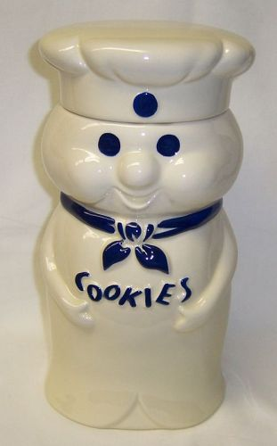 Pillsbury POPPIN' FRESH DOUGH BOY COOKIE JAR with LID, 1972