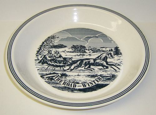 Royal China CURRIER and IVES The Road - Winter 10 Inch PIE PLATE