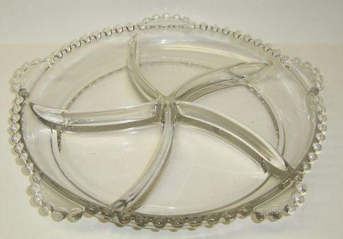 Imperial Crystal CANDLEWICK 5-Part Pinwheel Section RELISH TRAY