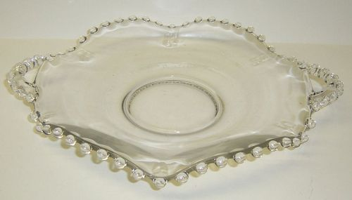 Imperial Crystal CANDLEWICK 9 7/8 Inch CRIMPED 2-Handled PLATE