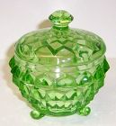 Jeannette Green CUBE CUBIST POWDER or DRESSER JAR with LID