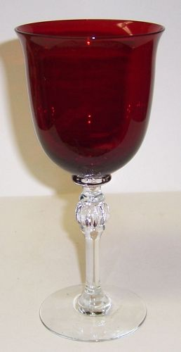 Morgantown Glass BRILLIANT RUBY 7 1/4 Inch 8 Ounce WATER GOBLET