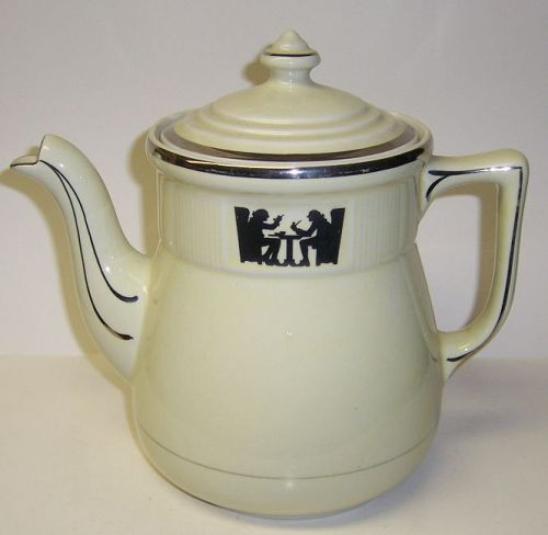 Hall China SILHOUETTE 8 Cup MEDALLION TEA POT or COFFEE POT
