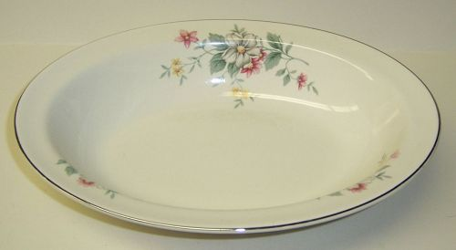 Hall China SPRINGTIME OVAL VEGETABLE or SERVING BOWL