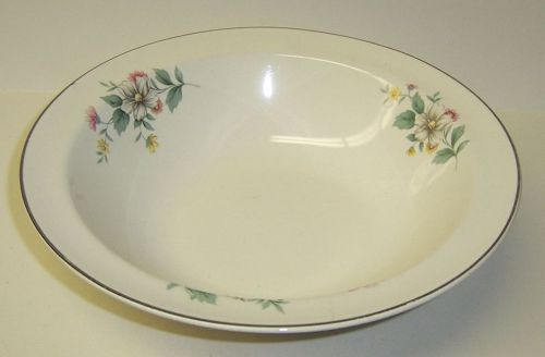 Hall China SPRINGTIME Round VEGETABLE or SERVING BOWL