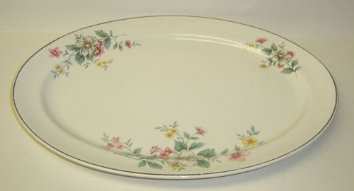 Hall China SPRINGTIME 13 1/4 Inch OVAL SERVING or MEAT PLATTER