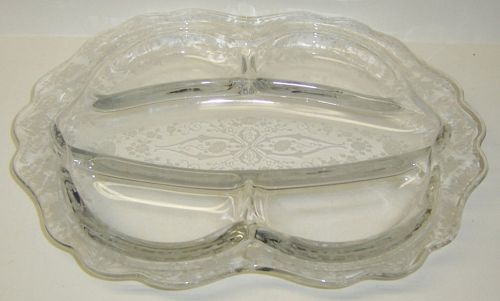 Cambridge Crystal DIANE 12 1/4 Inch 5 Part RELISH PLATTER or TRAY