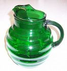 Anchor Hocking Forest Green WHIRLEY-TWIRLEY 9 In 86 Oz PITCHER