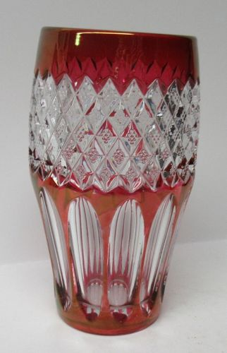 "Westmoreland Ruby Flashed WAKEFIELD WATERFORD 5 1/2"" FLAT TUMBLER"