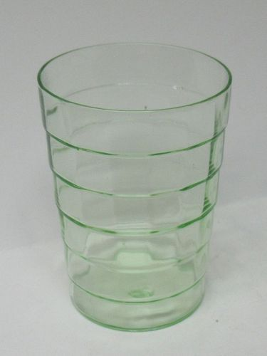 Hocking Green BLOCK OPTIC 3 3/4 In 9 1/2 Oz FLAT WATER TUMBLER