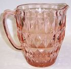 Jeannette Pink WINDSOR DIAMOND 6 5/8 In 32 Oz WATER PITCHER