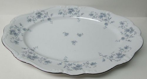 "Johann Haviland BLUE GARLAND 14 3/4"" OVAL SERVING or MEAT PLATTER"