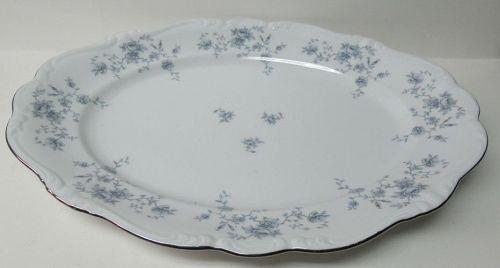 "Johann Haviland BLUE GARLAND 14 3/4"" OVAL SERVING or MEAT PLATTER"