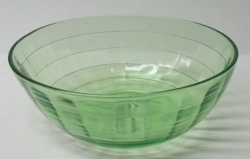 Hocking Depression Green BLOCK OPTIC 7 1/4 In DEEP SALAD BOWL