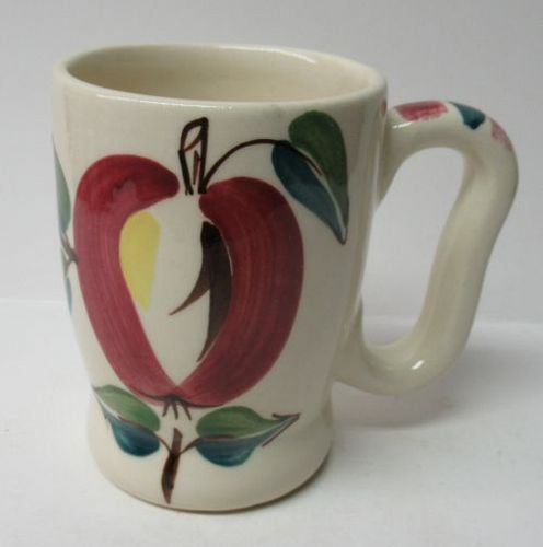 Purinton Pottery OPEN APPLE 4 Inch 8 Ounce HANDLED MUG