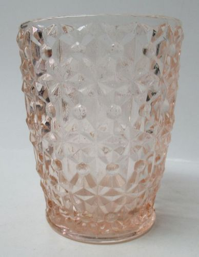 Jeannette Pink HOLIDAY, aka Button and Bows, 4 In WATER TUMBLER