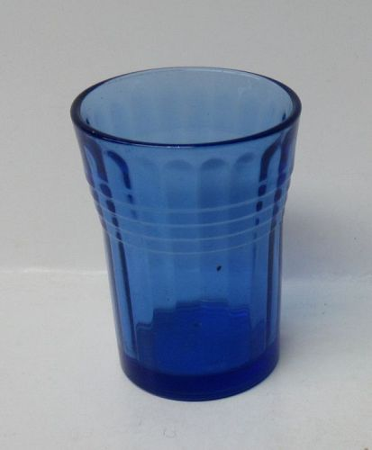Hazel Atlas Cobalt MODERNTONE 2 1/4 Inch WHISKEY or SHOT GLASS