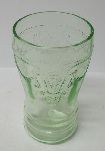 Hocking Green CAMEO BALLERINA 3 3/4 In FLAT JUICE TUMBLER