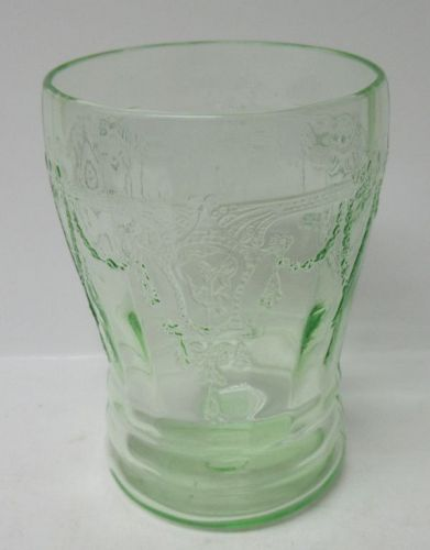 Hocking Green CAMEO BALLERINA 4 In 9 Ounce FLAT WATER TUMBLER