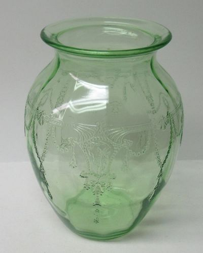Hocking Green CAMEO BALLERINA 8 Inch High FLOWER VASE