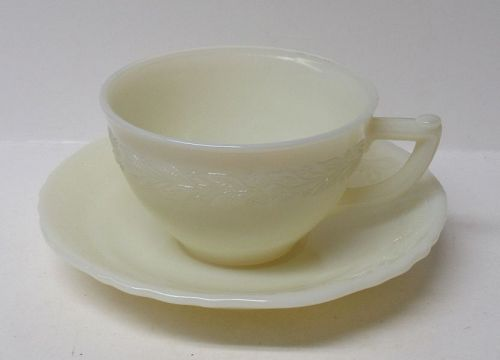 McKee French Ivory LAUREL Tea or Coffee CUP and SAUCER