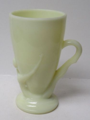 McKee Glass Seville Yellow BOTTOMS DOWN Handled Mug, Made In 1930s