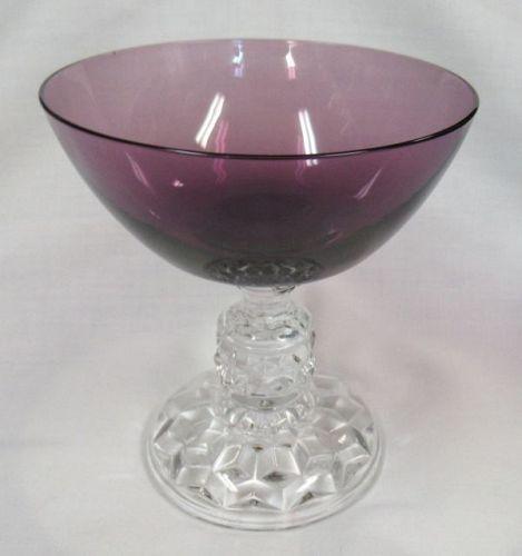 Fostoria Glass AMETHYST AMERICAN LADY 4 1/8 In 5 Oz SHERBET