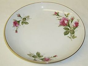 Sango China Japan MOSS ROSE 7 5/8 In FLAT SOUP BOWL