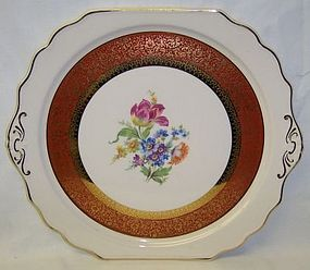 Harker China DRESDEN DUCHESS 12 In HANDLED CAKE PLATE