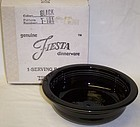 Homer Laughlin Black FIESTA 8 1/4 Inch SERVING BOWL