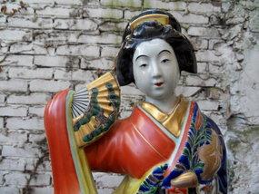 Kutani porcelain statue of a geisha, Japan