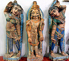 Indian stone temple statues