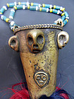 Naga necklace with a bronze ornament, monkey hair