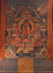 Amitabha Sukhavati thangka - Tibet