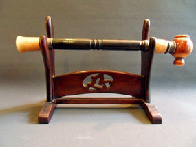 Chinese opium pipe - wood