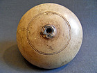 Chinese opium pipe bowl - stoneware