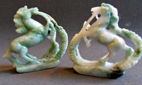 A pair of jade horses - China