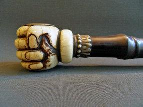 Chinese wood opium pipe