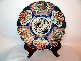 Japanese Imari porcelain dish with a phoenix