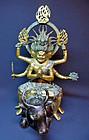 Bronze statue of Daiitoku Myo (Yamantaka) - Japan
