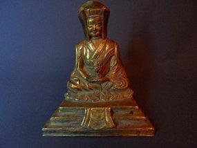Bronze statue of Guru Gampopa - Tibet