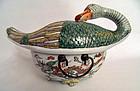 Guangxu famille verte porcelain duck tureen - China