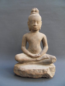 Sandstone Buddha - Khmer, Bayon, Cambodia