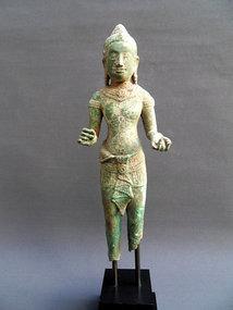 Bronze standing Buddha - Khmer, Cambodia