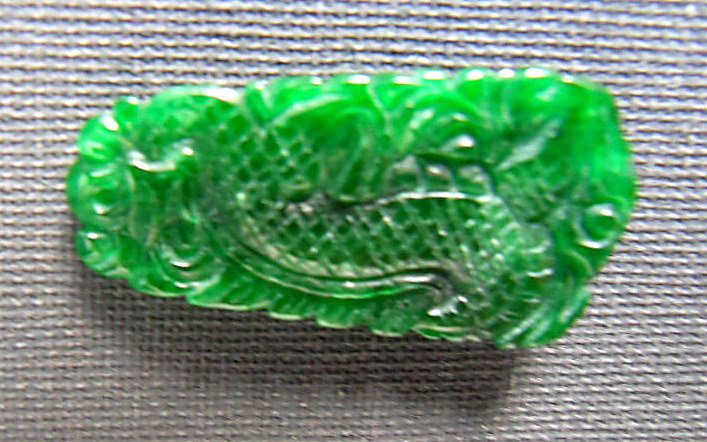 Small Chinese jade pendant with dragon