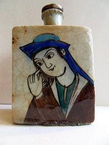 Persian Iznik glazed ceramic jar