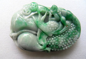 Chinese jade pendant with mythical dragon
