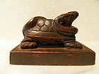 Chinese bronze seal in the form of a turtle